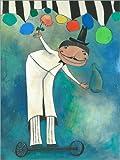 Poster 100 x 130 cm: Zauberer im Zirkus Wunderwelt von
