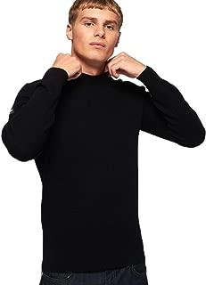 Superdry Men's Academy Crew Sweatshirt, Black