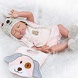 Pinky 50cm 20inch Vinyl Silicone Full Body Girl Doll Newborn Lifelike Reborn Baby Dolls Toddler Mouth Dummy