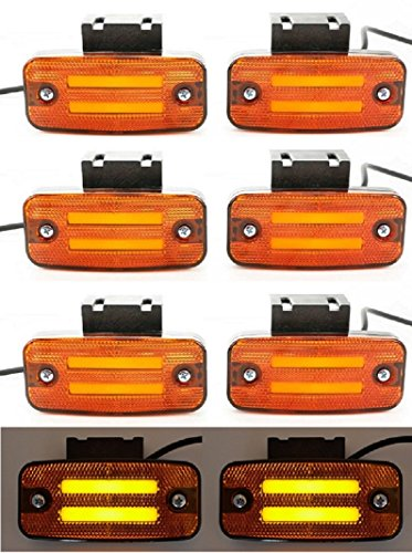 8 x 24 V LED oranje neon kant outline marker lichten met klemmen trailer chassis caravan truck bus