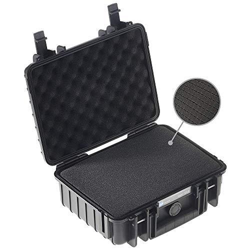 B&W Transportkoffer Outdoor Typ 1000 schwarz mit Würfelschaum - wasserdicht nach IP67 Zertifizierung, staubdicht, bruchsicher und unverwüstlich