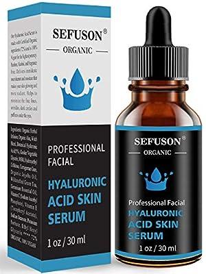 Hyaluronic Acid Serum, Best Pure Hyaluronic Acid Moisturiser for Face, Anti Ageing & Anti Wrinkle Moisturiser Hyaluronic Acid Serum, Fine Lines & Sensitive Skin?Improve Age Spots-1floz(30ml).