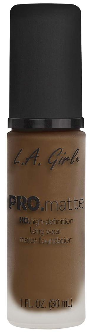 夜歯該当するL.A. GIRL Pro Matte Foundation - Soft Sable (並行輸入品)