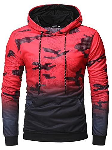Sudaderas con capucha de camuflaje para hombre Sudaderas deportivas con cordón superior con capucha
