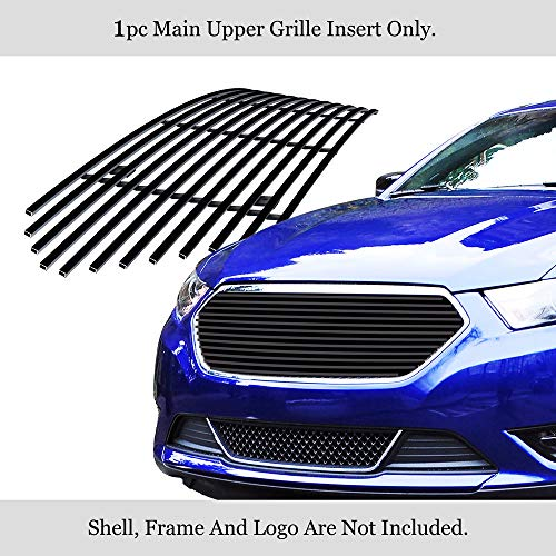 APS Compatible with 2013-2019 Ford Taurus SHO Logo Cover Black Billet Grille...