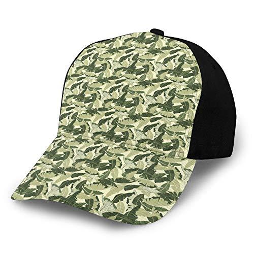 FULIYA Gorra de béisbol para hombre y mujer, ajustable, de sarga lavada, de perfil bajo, con aspecto vintage en tonos verdes