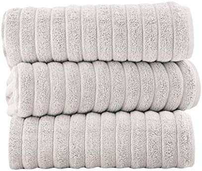 Classic Turkish Towels Luxury Bath Towel Set Soft and Thick Oversized Ribbed Bathroom Towels product image