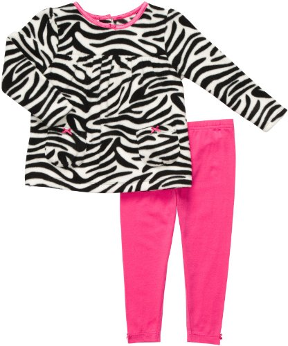 Carter's 2 teilig Pullover + Legging Baby Mädchen Zebra Outfit Kleidung Girl Fleece Girl