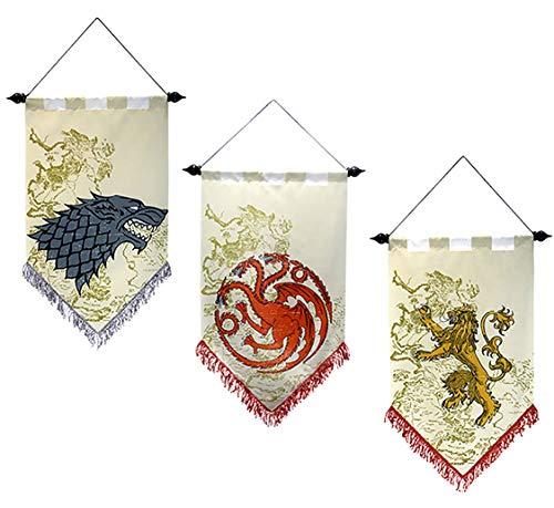 フランスベッド Game of Throne Bandiera Game of Thrones Il Trono di Spade Manifesto Stark Flag Targaryen Banner Lannister Poster