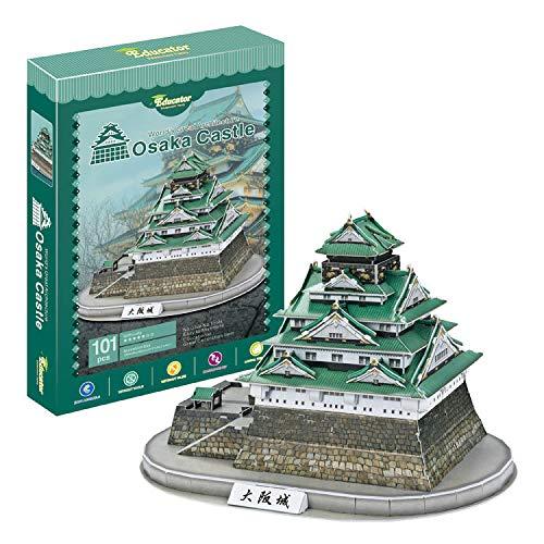 Castillo Osaka   Japón. Puzzle 3D Papel. Arquitectura del Mundo. Exclusivo. Educacional y Decorativo