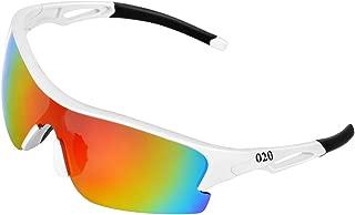 Polarized Sports Sunglasses for Women Men Teens Youth Biking Running Golf Unbreakable Frame