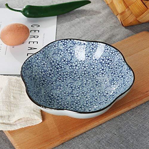 Eettafel voor saladeborden, creatief, plat vesten van porselein, Cena golfplaten Plum bord van keramiek voor de familie Rice fruitplaat Pi