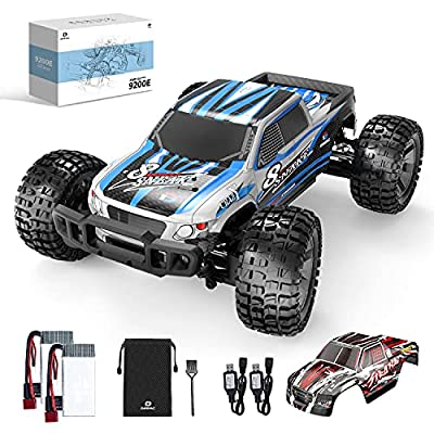 DEERC 9200E RC Cars 1:10 Scale Large High Speed Remote Control Car for Adults Kids,48+ kmh 4WD 2.4GHz Off Road Monster Truck Toy,All Terrain Electric Vehicle Boy Gift with 2 Batteries for 40+ Min Play from DEERC