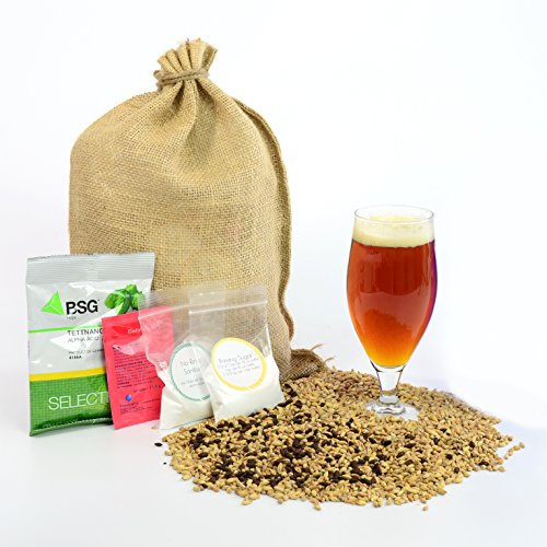 1 Gallon Home Brewing Homebrew Recipe Kit, All-American Amber Ale, 5.9%