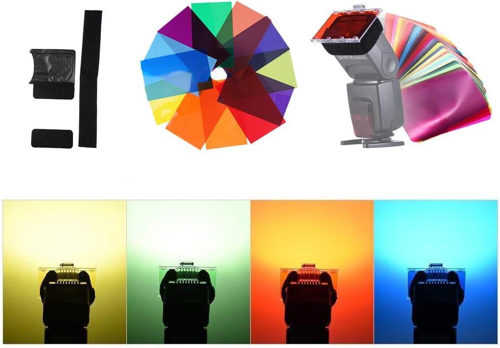 GODOX V-11T Kit de Filtros de Color para Godox Cabeza Redonda C/ámara Flash V1-S V1-C V1-N V1-F V1-O V1-P AD200 Pro V-11T