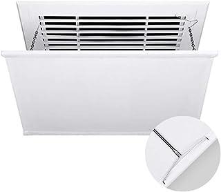 Deflector del Aire Acondicionado, Control del ángulo del Viento frío, Adecuado para el hogar/Oficina, fácil de Instalar Desmonte y limpie (Color : White, Size : 60cm×60cm)