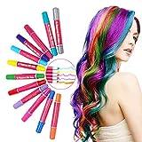 LATTCURE Haarkreide Kamm 12 Farben, Haarfarbe Kreide Kamm, Kinder Haarfärbemittel, Temporär Haarkreide instant Einmalige Haarekreide Kamm, waschbar und ungiftig