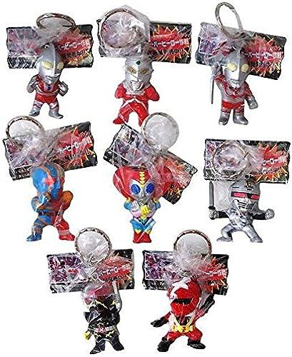Super Hero Operations figure key chains all eight set Banpresto 1999