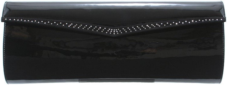 GION Elisabeth Women Leather Clutch Evening Bag