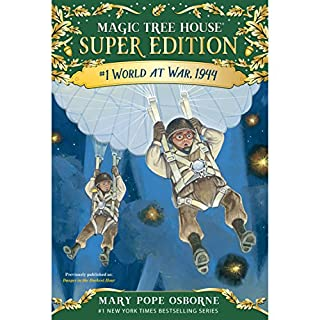 World at War, 1944     Magic Tree House Super Edition, Book 1              By:                                                                                                                                 Mary Pope Osborne                               Narrated by:                                                                                                                                 Mary Pope Osborne                      Length: 3 hrs and 1 min     24 ratings     Overall 4.2