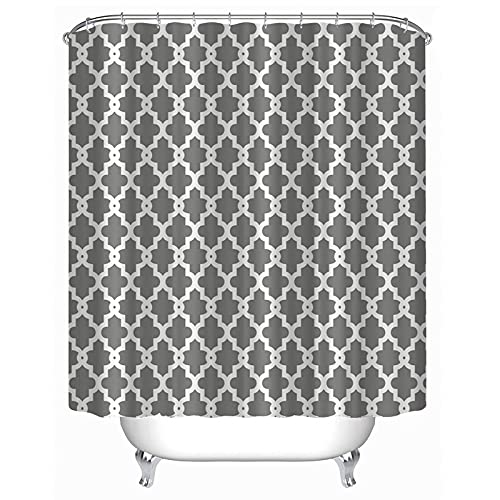 """Imiee Geometric Patterned Shower Curtain 72"""" x 72"""" - Grey"""