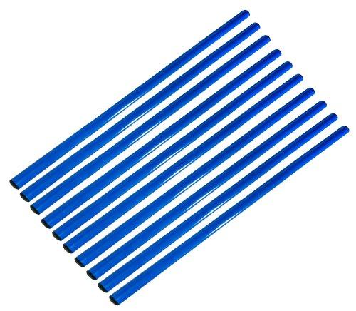 Agility Sport pour Chiens - Lot de 10 Jalons, Longueur 80 cm, Ø 25 mm, Bleu - 10x 80b