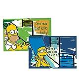 Egan Simpsons Set Tovaglietta, Modello Homer/Marge, Multicolore, 2 unità