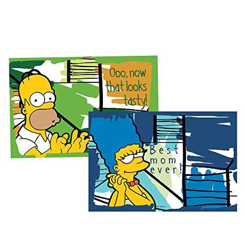 Egan Simpsons Platzdeckchen Homer/Marge, Mehrfarbig, 2 Stück