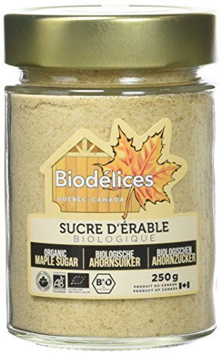 Biodelices Le sucre d'érable Fin Bio 250 g