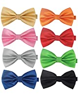 8 PACKS Men's Bow ties Adjustable Bow-ties For Boys Gift