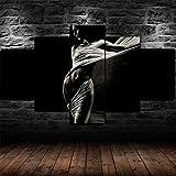 Cuadro En Lienzo Decoracion 5 Piezas HD Imagen Impresiones En Lienzo Cuerpo De Mujer Erótica Emocional Lienzo Grandes XXL Murales Pared 5 Paneles De Pinturas De Obras De Arte Moderno