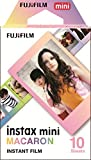 Fujifilm Instax Mini Macaroon - Pack de 10 películas instantáneas, multicolor...
