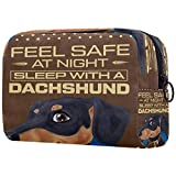 Dachshund - Bolsa de cosméticos para maquillaje, organizador de viaje, portátil, para niñas, mujeres
