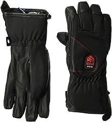 Hestra Heated Gloves: Waterproof Power Heater Cold Weather Ski Gloves, Black, 10