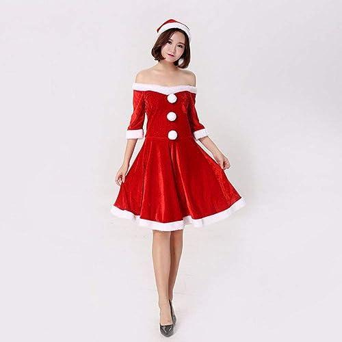 venta de ofertas CVCCV Disfraces De Navidad Disfraces De Navidad para para para Adultos Vestidos De Navidad para mujeres Disfraces De Cosplay Material De Fibra Tamaño Libre (rojo)  ahorre 60% de descuento