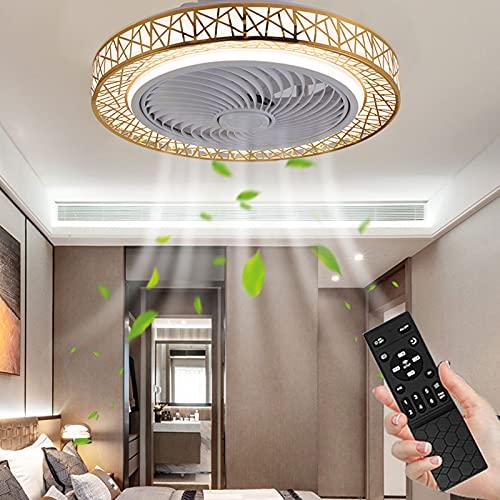 Boracy Ventiladores de Techo Modernos - Lamparas Techo Led para Comedor Habitacion Salon Dormitorio, Ventilador de Techo Silencioso con Luz y Mando a Distancia, 3 Velocidades