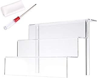 BTSKY - Estante expositor acrílico de 3 niveles - Soporte expositor de figuras acrílico elevador expositor estante de plástico para esmalte de uñas, muñeca, modelo de dibujos animados 12