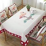 MIDUO Ins Baumwoll-Tischdecken, klein, frische Tischdecke, wasserfest, verbrühungsfrei, rechteckig, für Couchtisch, Heli, 140 x 180 Tapete