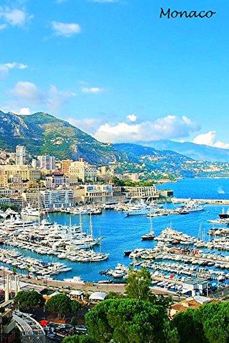 Large Monaco France # Jumbo Photo Fridge Magnet