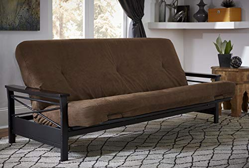 DHP 6-inch Coil Futon Full Size Mattress (only), Brown