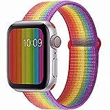 sseihi cinturino compatibile con apple watch cinturino 38mm 40mm 42mm 44mm,cinturino di ricambio in nylon inturino di ricambio compatibile iwatch series5, series4, series3, series2, series 1