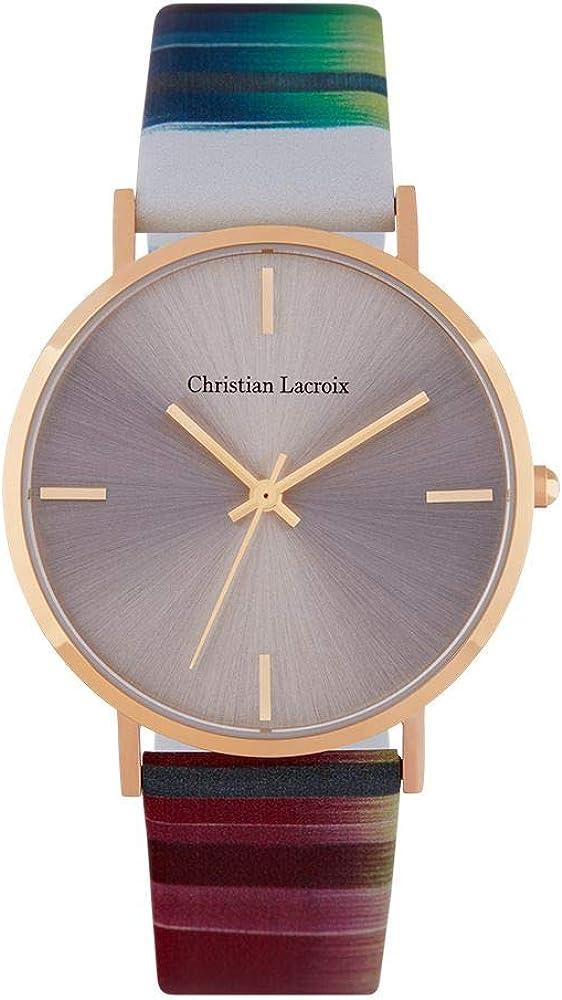 Christian lacroix orologio da donna cassa in acciaio e cinturino in vera pelle CLFS1803