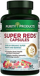 Super Reds Formula (20+ Organic Super Fruits & Berries)   Purity Products   Heart & Brain Health Support*  ...