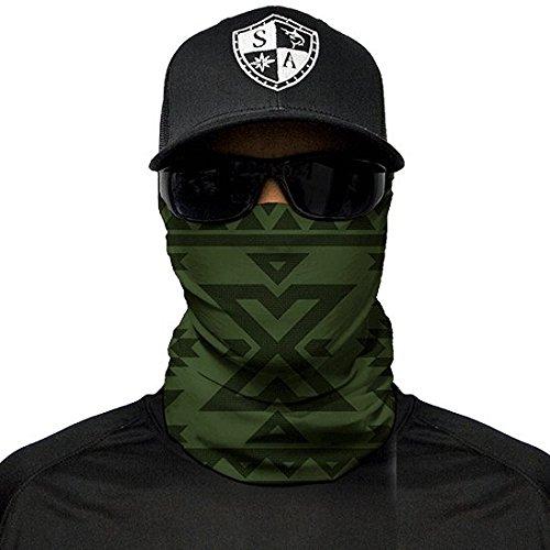 Moto Seven Sparta 2 PCS Masque de Ski Balaclava Noir Cagoule Coupe-Vent pour Le Ski de Sports dhiver Masque Facial Snowboard