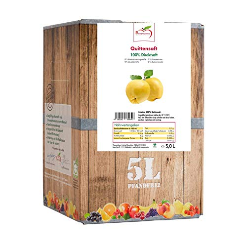 Pfannenschwarz Quittensaft 100% Direktsaft, Muttersaft, 5 L Bag in Box