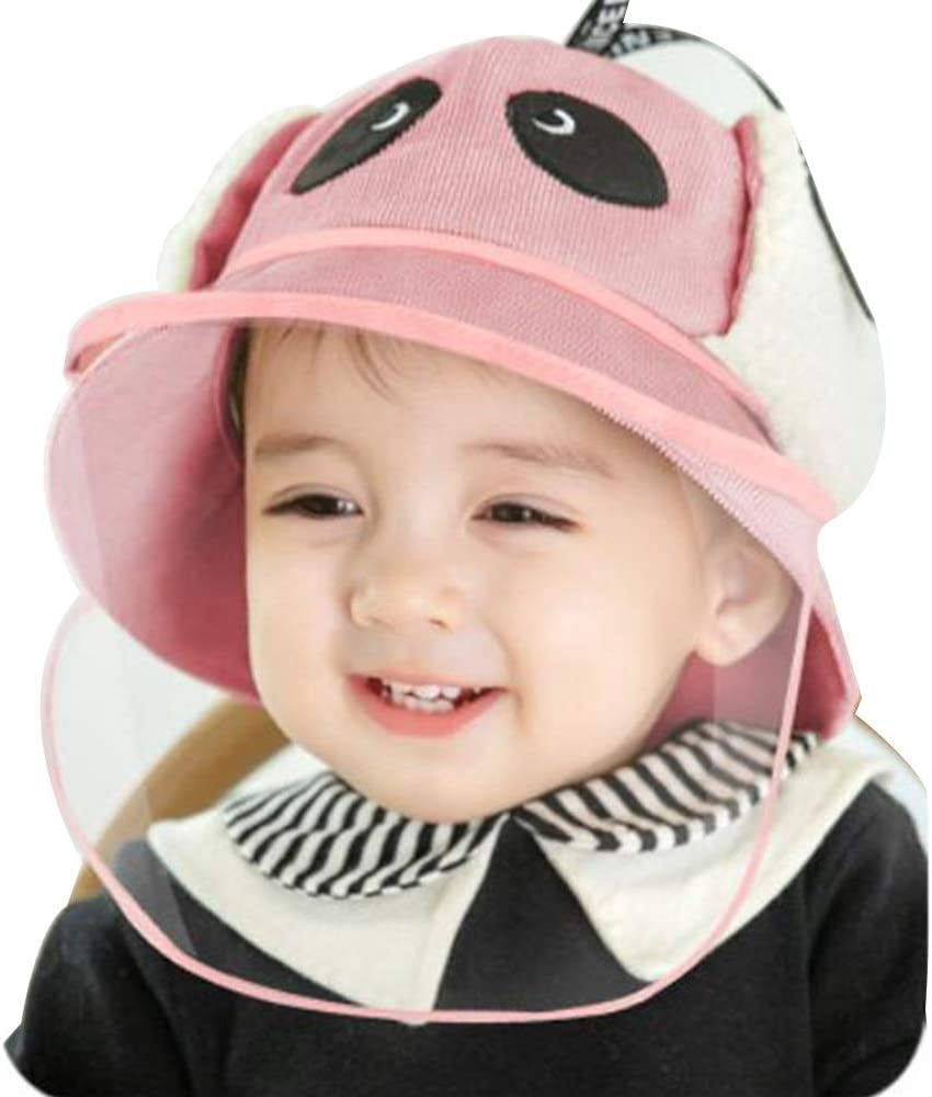 FUFU Hat Kids Hat,Winter Warm Baby Hats Kids Knit Caps Fleece Lining Hat Scarf for Toddler Boys Girls Outdoor Hat (Color : Pink, Size : 1-2 Years)