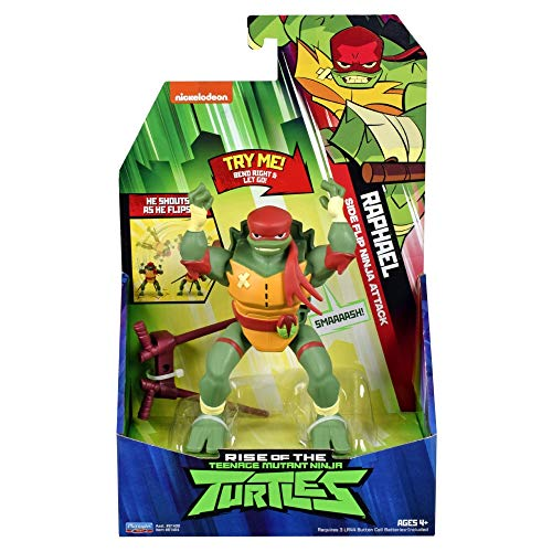 Giochi Preziosi Teenage Mutant Ninja, Turtles Rise Off, Personaggi Deluxe con Suoni, Raphael Cartwheel Attack