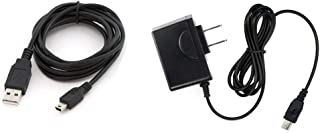 for Garmin eTrex Summit HC GPS Navigation, Home Wall Travel Charger Adapter & Black 6 ft / 1.83 m Charging Cable by Things Needed
