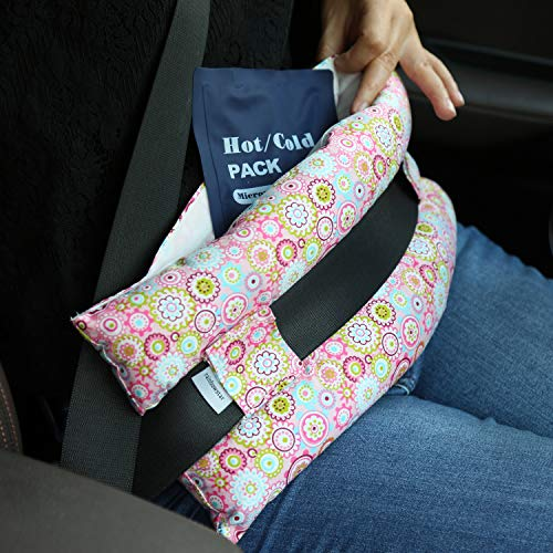 Hysterectomy Seatbelt Pillow with Pocket for Cervical Cancer Uterine fibroids Abdominal Surgery Abdomen Healing Protector Organ Transplants C-Section Recovery Car Seat Belt Pad (Sunflower)