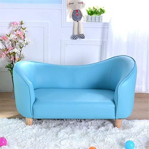 DYecHenG Sillón Butaca Casa Creativa Linda Princesa pequeña sofá Dormitorio Doble Chaise Lounge sillón para Cafetería Comedor (Color : Azul, Size : 95x51x53cm)